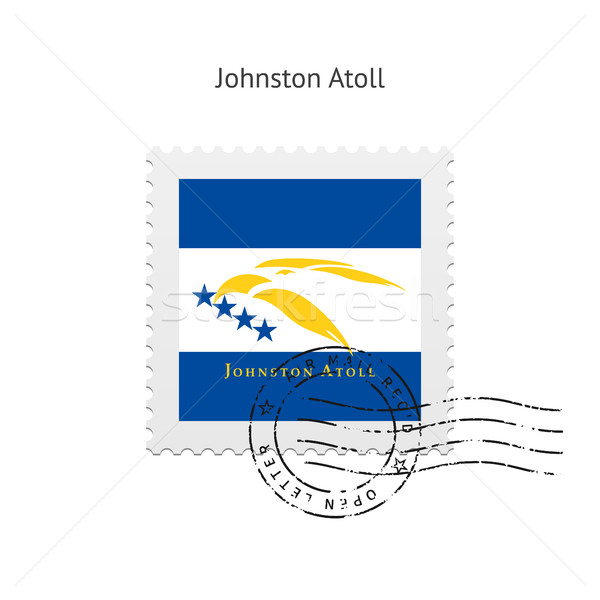 Johnston Atoll Flag Postage Stamp. Stock photo © tkacchuk