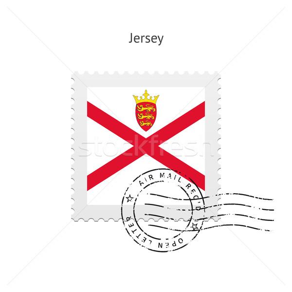 Jersey Flag Postage Stamp. Stock photo © tkacchuk
