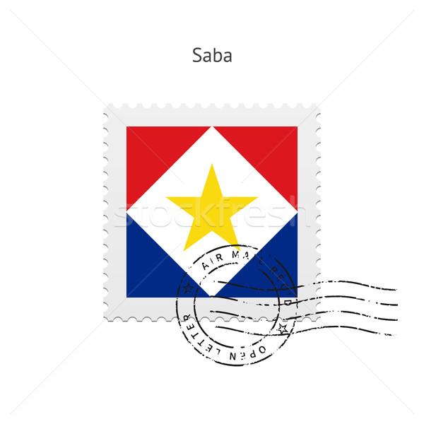 Saba Flag Postage Stamp. Stock photo © tkacchuk