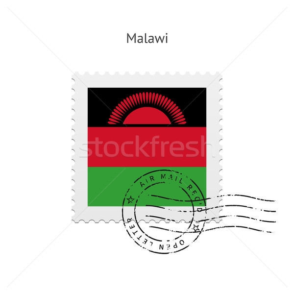 Malawi Flag Postage Stamp. Stock photo © tkacchuk