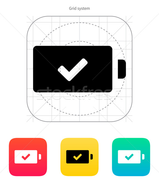 Charged battery icon. Vector illustration. Stock photo © tkacchuk