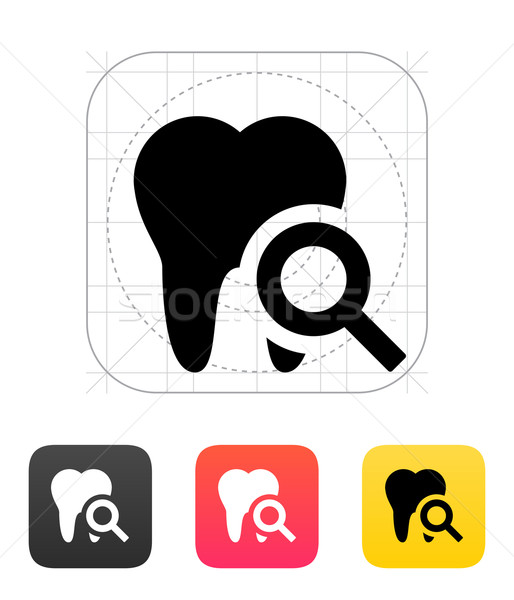 Tooth diagnostic icon. Stock photo © tkacchuk
