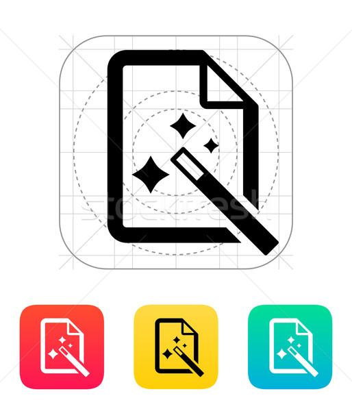 Magic file icon. Stock photo © tkacchuk
