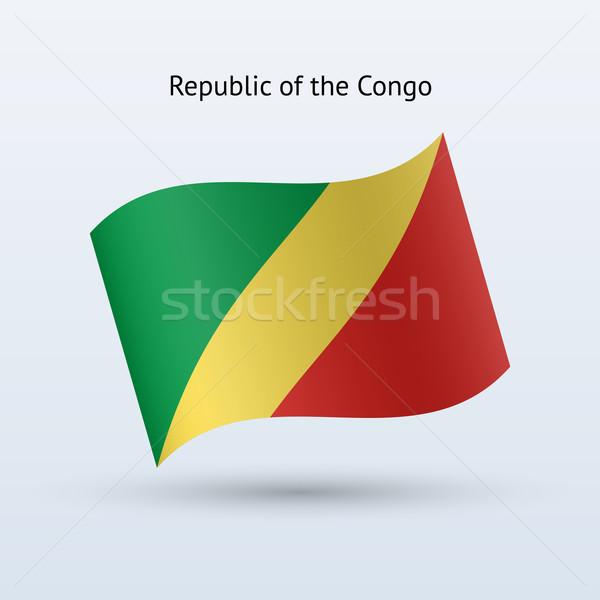 Cumhuriyet Kongo bayrak form gri Stok fotoğraf © tkacchuk