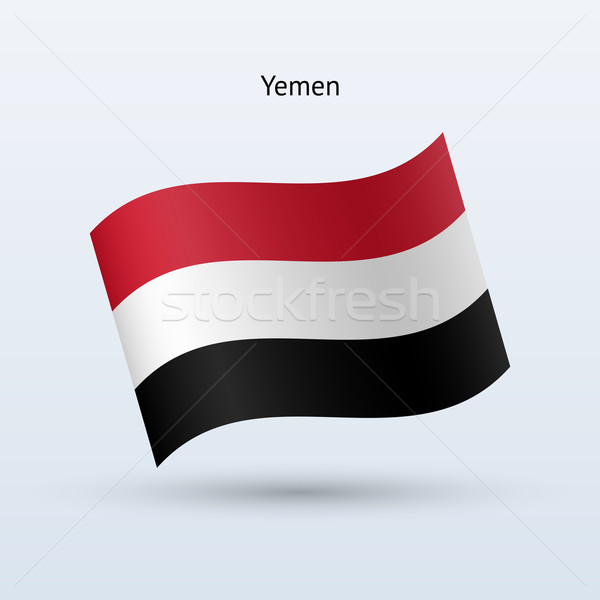 Jemen vlag vorm grijs teken Stockfoto © tkacchuk