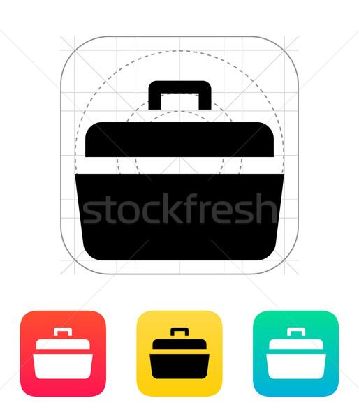 Otwarte przypadku ikona działalności pracy tle Zdjęcia stock © tkacchuk