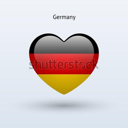 Amour Allemagne symbole coeur pavillon icône Photo stock © tkacchuk