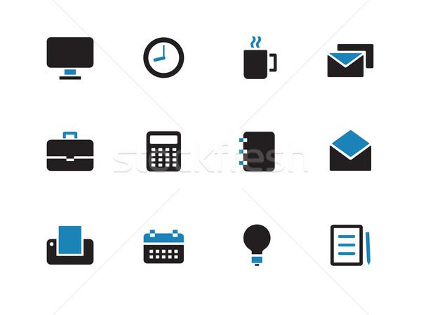 Business duotone icons on white background. Stock photo © tkacchuk