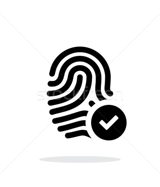Fingerprint accepted icon on white background. Stock photo © tkacchuk