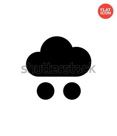 Hail weather icon on white background. Stock photo © tkacchuk
