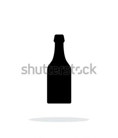 Beer bottle simple icon on white background. Stock photo © tkacchuk