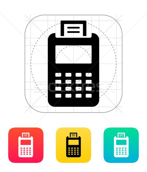 Facturering machine icon business scherm financieren Stockfoto © tkacchuk