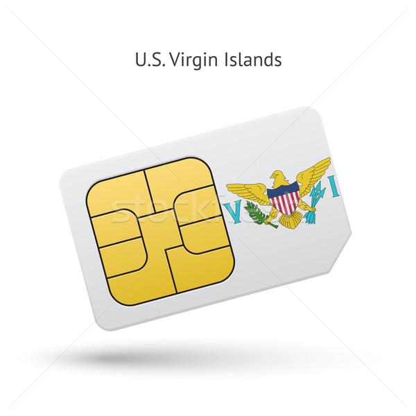 Виргинские о-ва мобильного телефона карт флаг бизнеса дизайна Сток-фото © tkacchuk