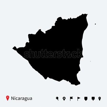 Alto detallado vector mapa Andorra navegación Foto stock © tkacchuk