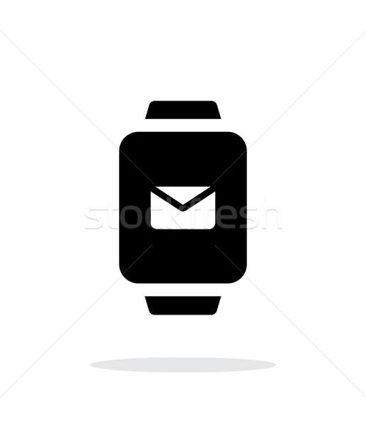 Posta akıllı izlemek basit ikon beyaz Stok fotoğraf © tkacchuk