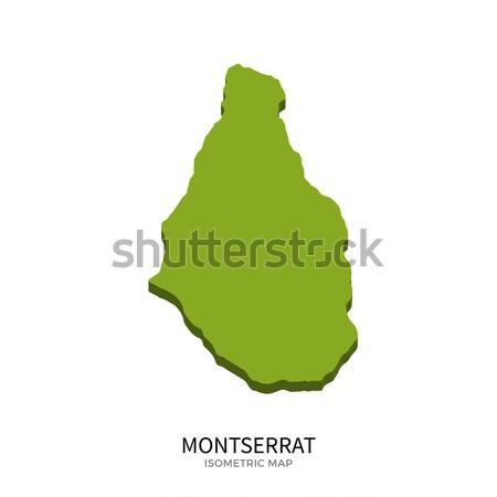 Isometric map of Montserrat detailed vector illustration Stock photo © tkacchuk