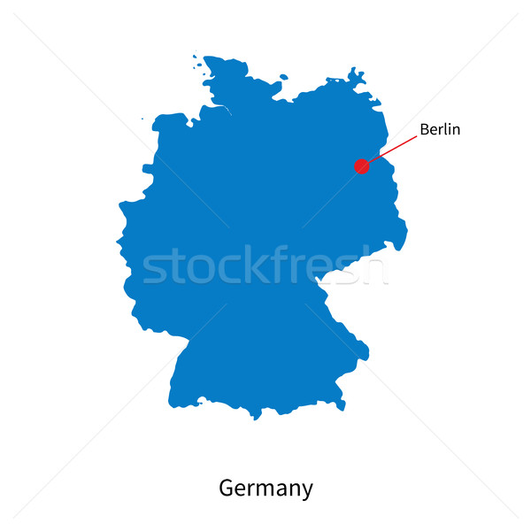 Detailed vector map of Germany and capital city Berlin Stock photo © tkacchuk