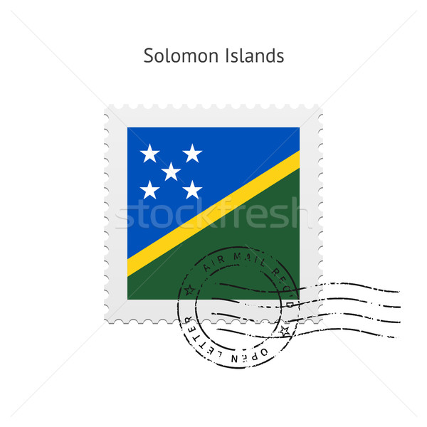 Solomon Islands Flag Postage Stamp. Stock photo © tkacchuk