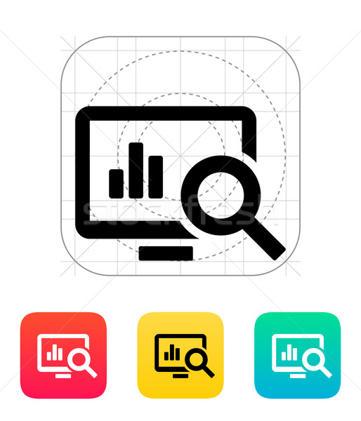 Stock photo: Search chart icon.