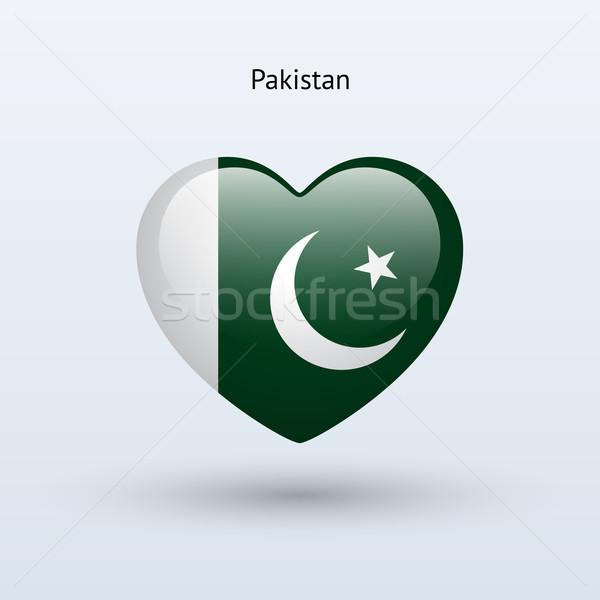 Sevmek Pakistan simge kalp bayrak ikon Stok fotoğraf © tkacchuk
