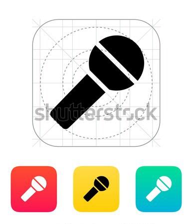 Wireless microphone icon on white background. Stock photo © tkacchuk