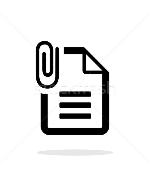 Attached Text file icon on white background. Stock photo © tkacchuk