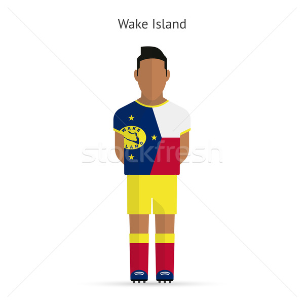 Wake Island football player. Soccer uniform. Stock photo © tkacchuk