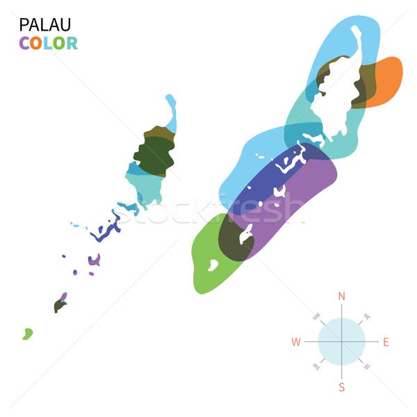 抽象的な ベクトル 色 地図 パラオ 透明な ストックフォト © tkacchuk