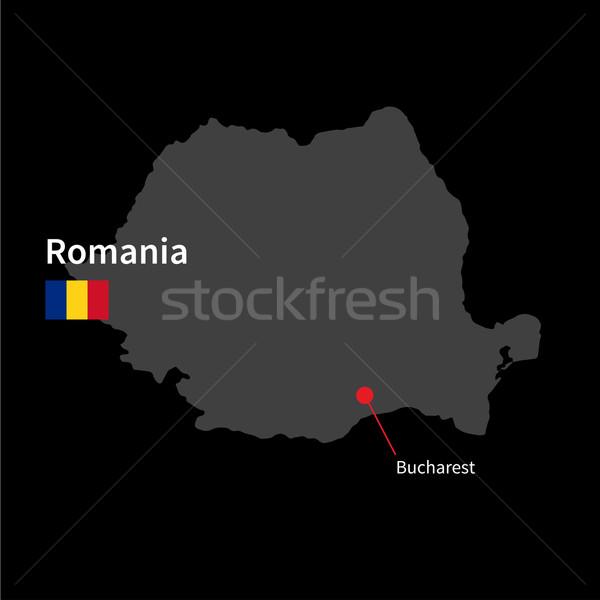 подробный карта Румыния город Бухарест флаг Сток-фото © tkacchuk