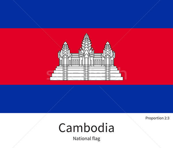 National flag of Cambodia with correct proportions, element, colors Stock photo © tkacchuk