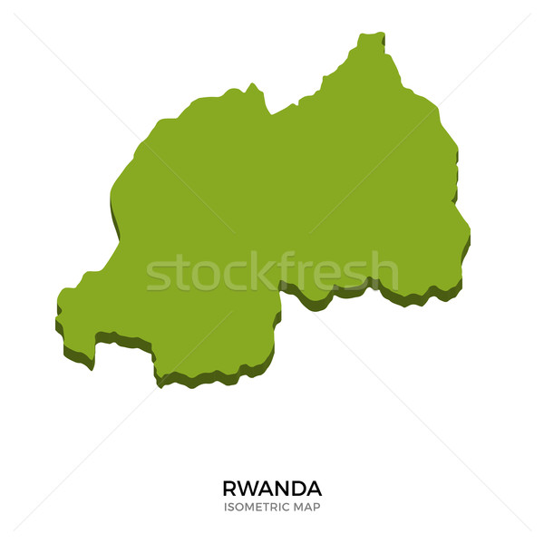 Isometric map of Rwanda detailed vector illustration Stock photo © tkacchuk
