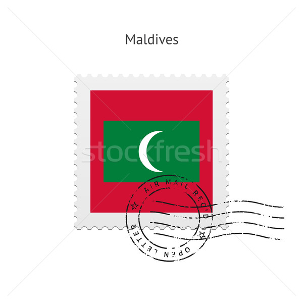 Maldives Flag Postage Stamp. Stock photo © tkacchuk