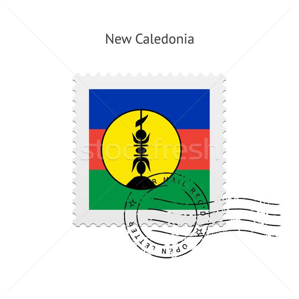 új zászló postabélyeg fehér felirat levél Stock fotó © tkacchuk