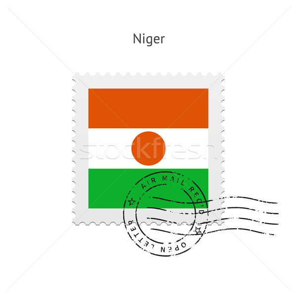 Niger Flag Postage Stamp. Stock photo © tkacchuk