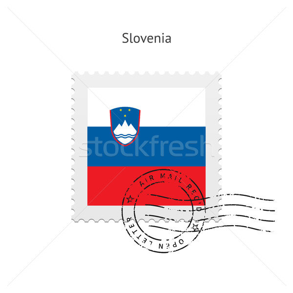 Slovenia Flag Postage Stamp. Stock photo © tkacchuk