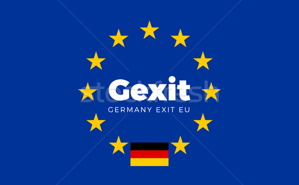 Flag of Germany on European Union. Gexit - Germany Exit EU Europ Stock photo © tkacchuk