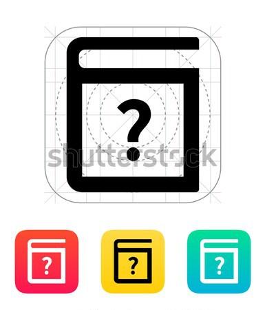 Help book icon. Stock photo © tkacchuk
