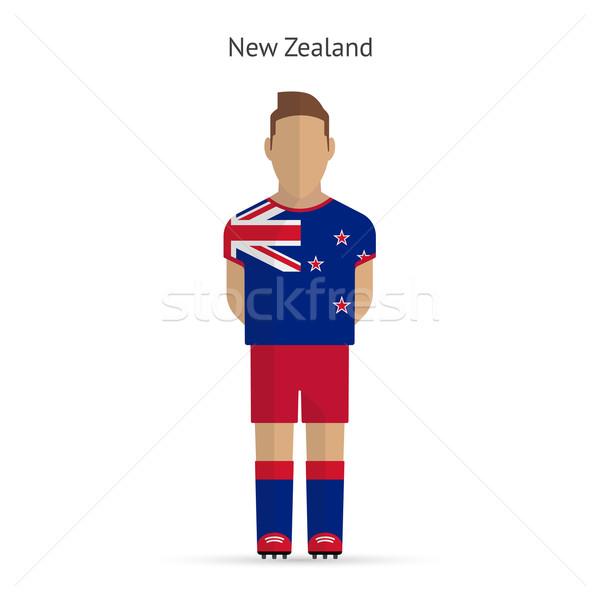 Nueva Zelandia futbolista fútbol uniforme resumen fitness Foto stock © tkacchuk