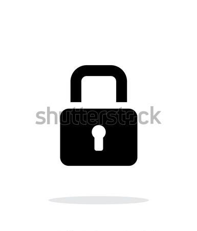 Padlock close icon on white background. Stock photo © tkacchuk
