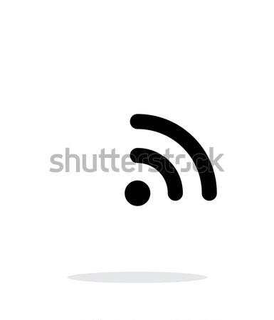 Radio senal wifi icono blanco tecnología inalámbrica Foto stock © tkacchuk