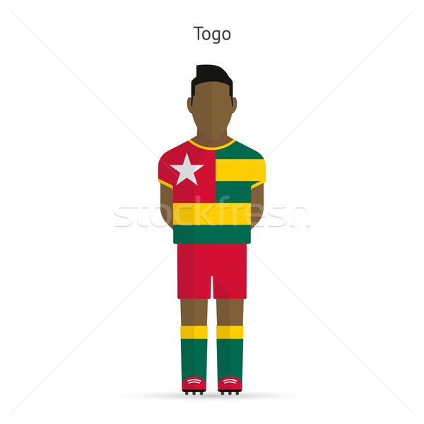 Togo calcio uniforme abstract fitness Foto d'archivio © tkacchuk
