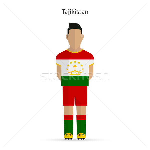 Tayikistán futbolista fútbol uniforme resumen fitness Foto stock © tkacchuk