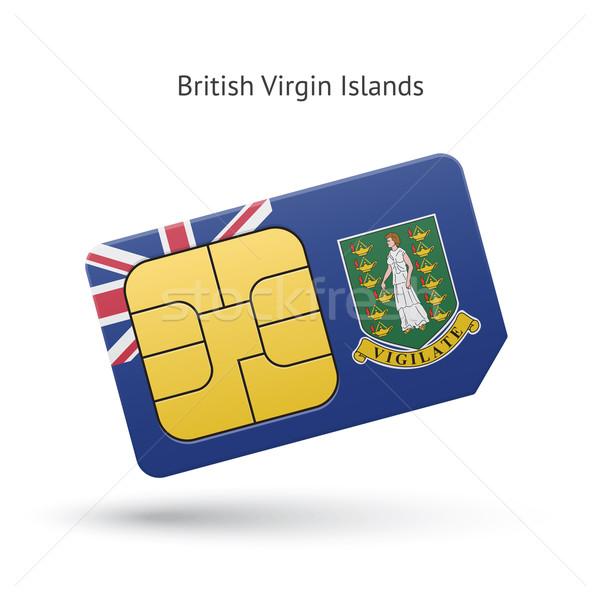 Brits Virgin Islands telefoon kaart vlag mobiele telefoon Stockfoto © tkacchuk