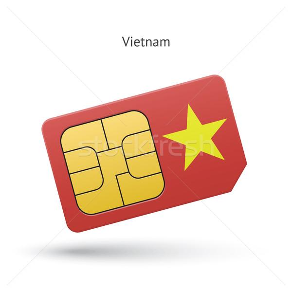 Viêt-Nam téléphone portable carte pavillon affaires design Photo stock © tkacchuk