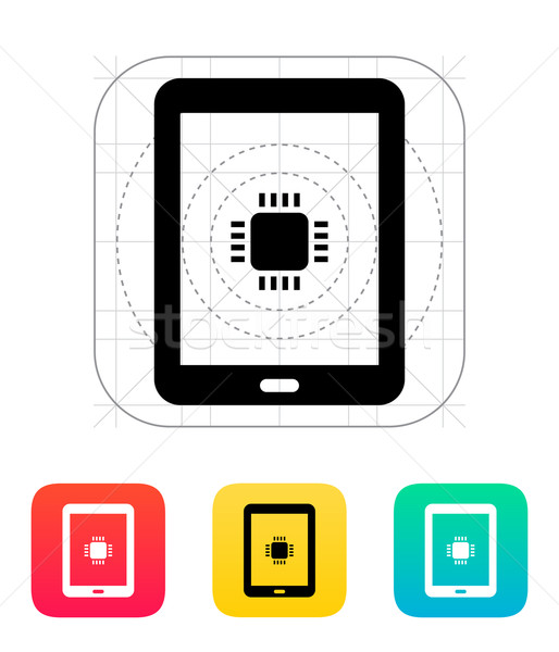 Tablet cpu Symbol Vektor Illustration Business Stock foto © tkacchuk