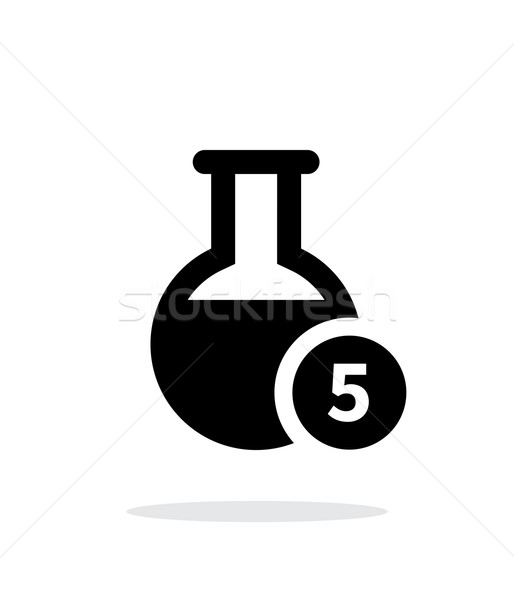 Florence flask with number simple icon on white background. Stock photo © tkacchuk