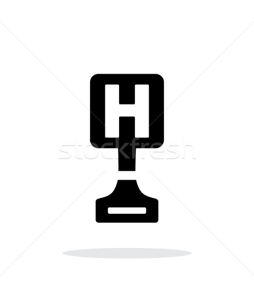 Hospital award simple icon on white background. Stock photo © tkacchuk