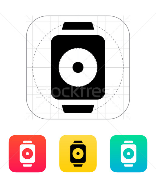 Remote controller on smart watch icon. Stock photo © tkacchuk