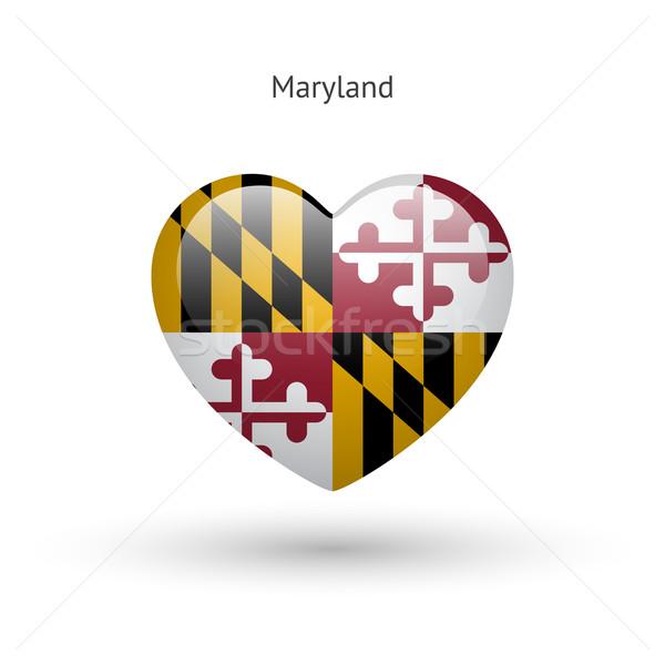 Amore Maryland simbolo cuore bandiera icona Foto d'archivio © tkacchuk