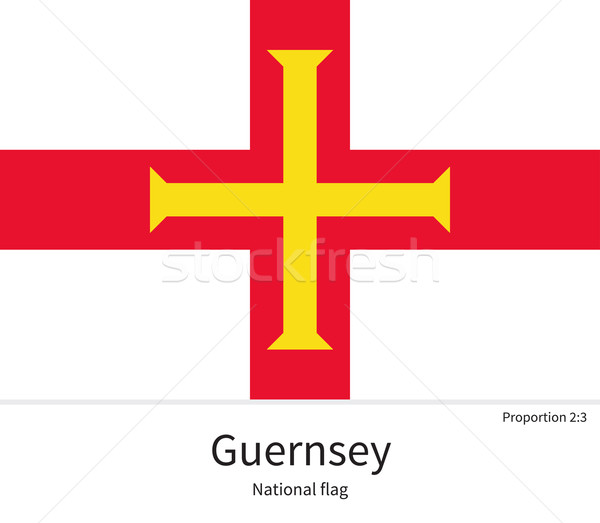 National flag of Guernsey with correct proportions, element, colors Stock photo © tkacchuk